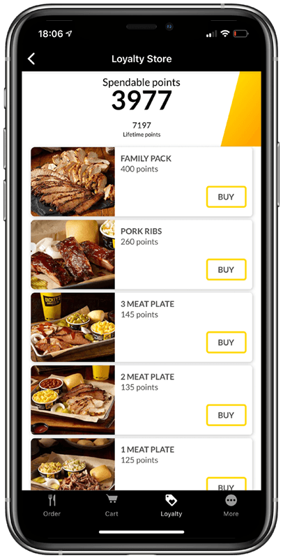 Loyalty phone application image